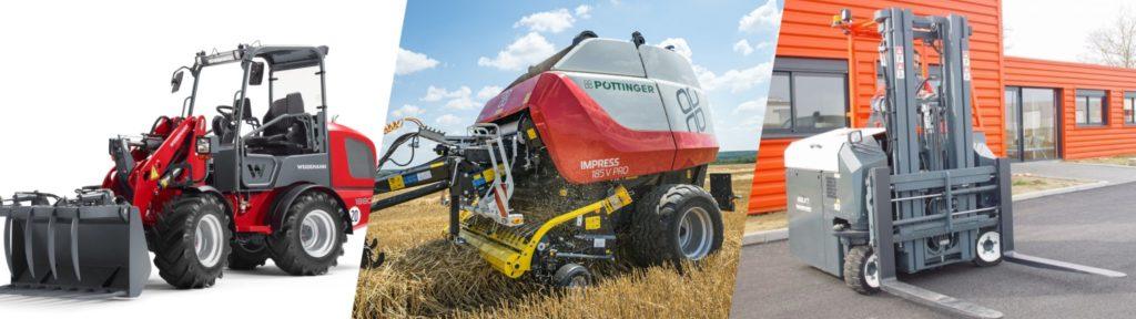 Vente de matériel et engins neufs pour l'agriculture, les collectivités, l'industrie, les travaux publics, les espaces paysagers